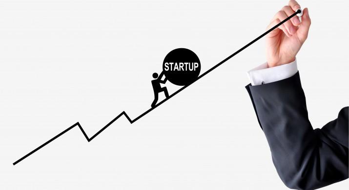 Gráfico em movimento crescente, indicando a ascensão das startups