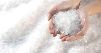 Lã de PET, material 100% recilcado usado na construção civil